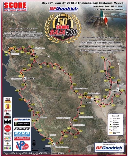 BFGoodrich Pit Registration for 50th SCORE Baja 50…
