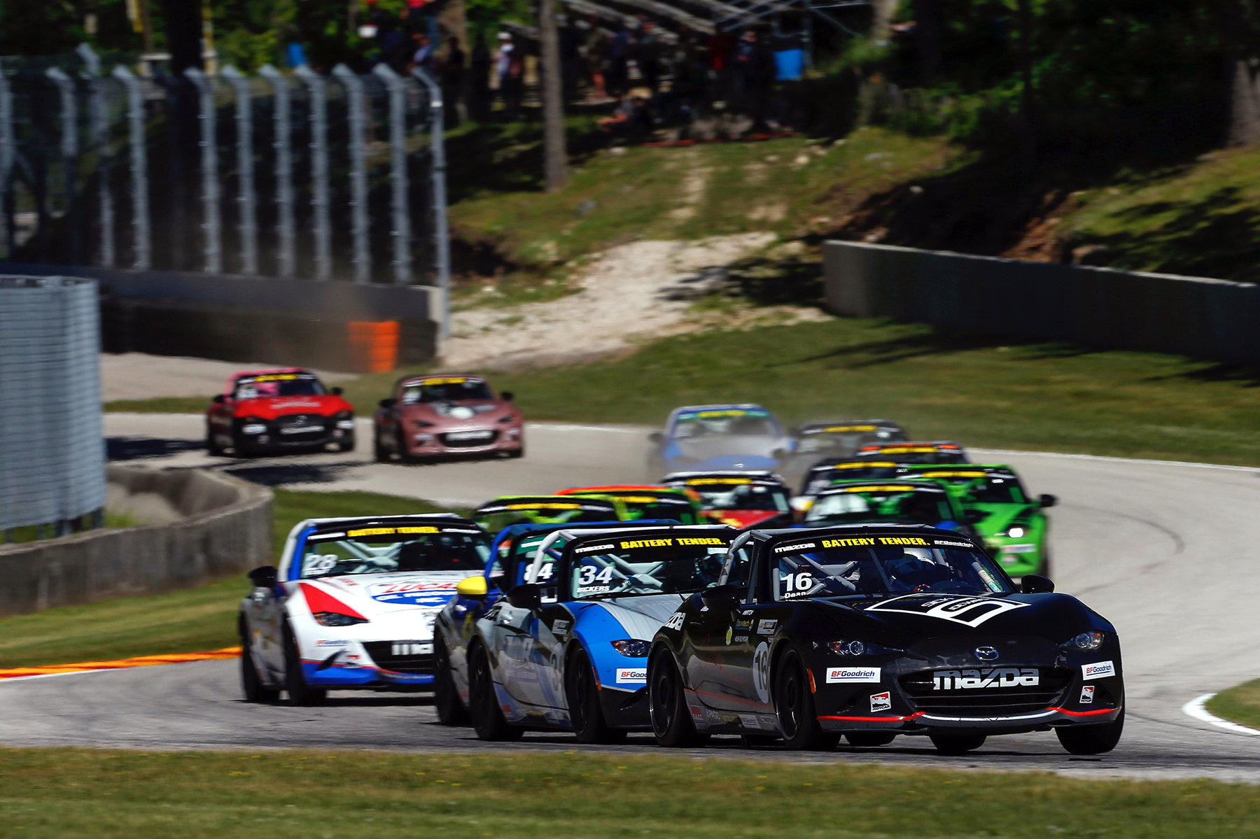 Dean Sweeps Battery Tender Global Mazda MX-5 Cup a…