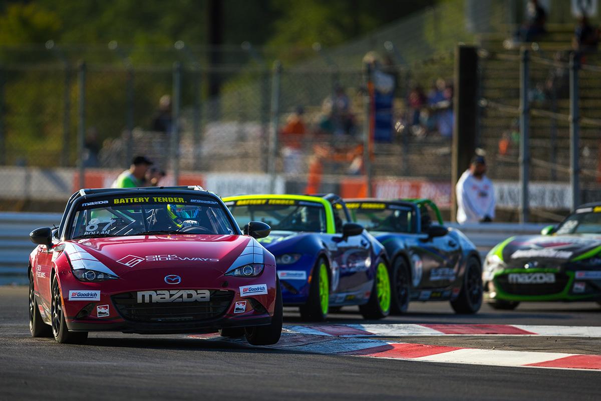 Rollan Hangs on for Battery Tender Global Mazda MX…