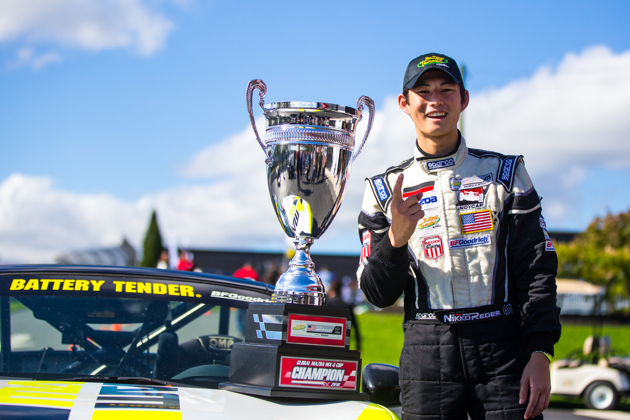 Nikko Reger Claims Global Mazda MX-5 Cup Champions…