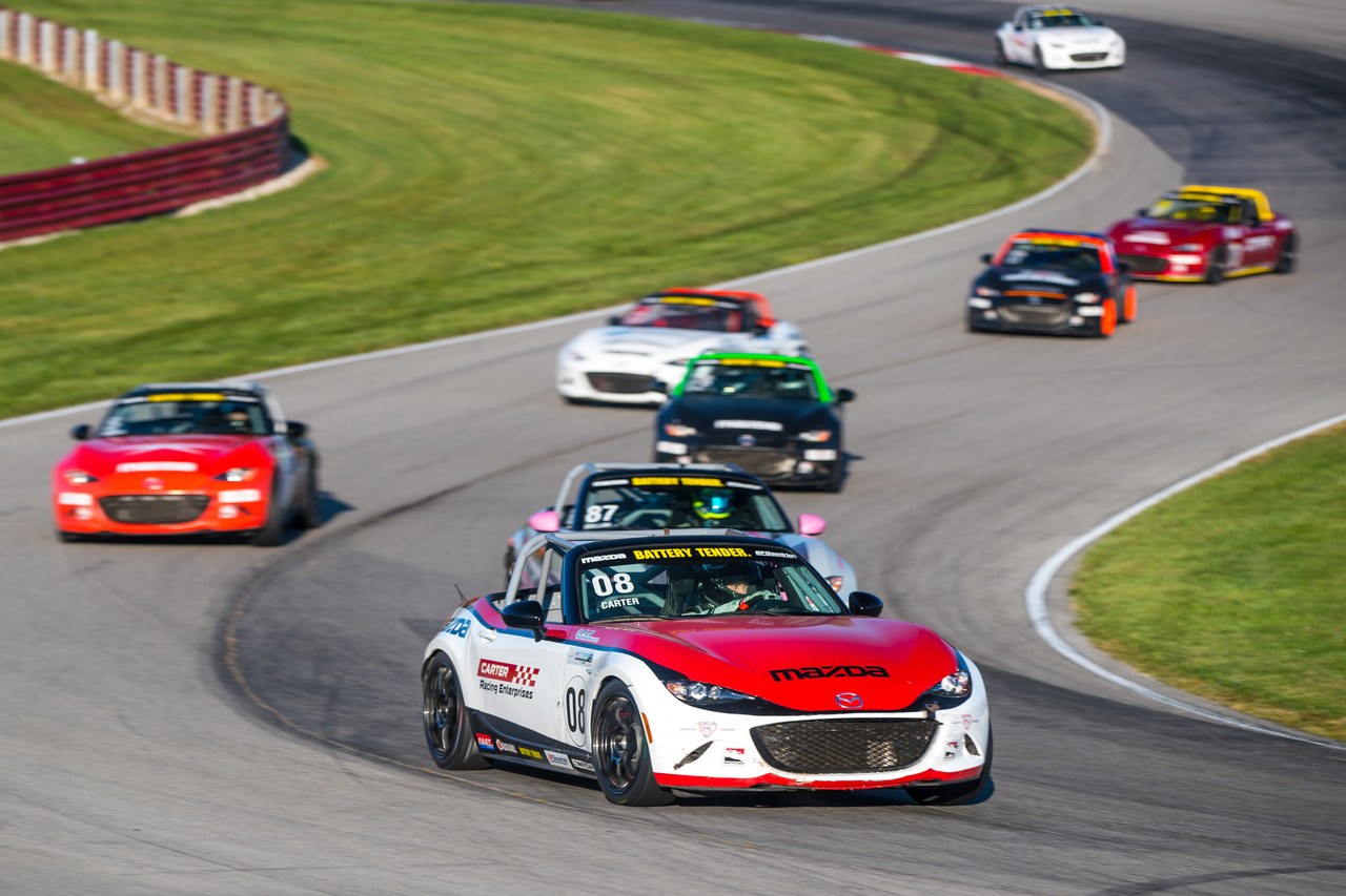 Carter Survives to Win Wild Global Mazda MX-5 Cup…
