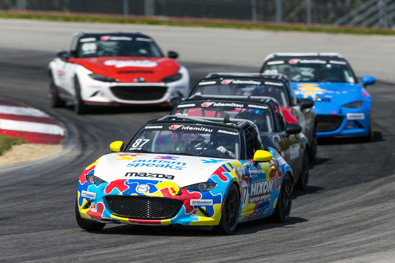 Rollan Comes Out on Top of Six-Car Battle for Mazd…